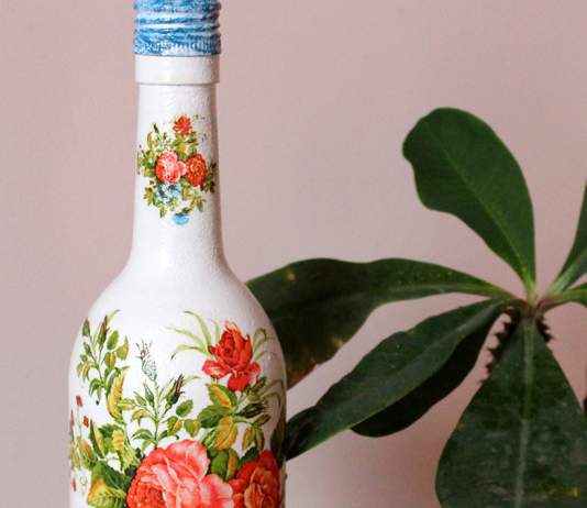 Decorate Wine Bottle With Decoupage In 7 Easy Steps