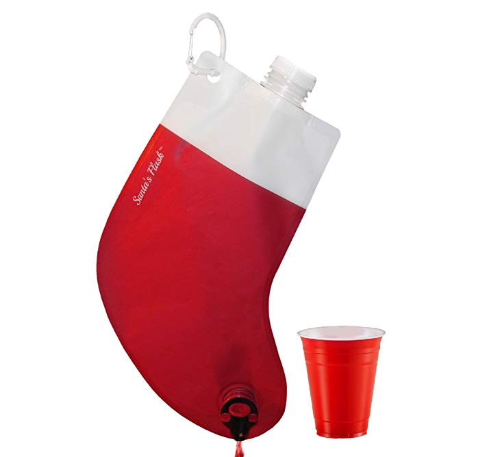 Jazz Up Your Christmas With This Cool Stocking Wine Dispenser